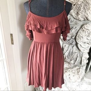 Good luck gem cold shoulder dress S